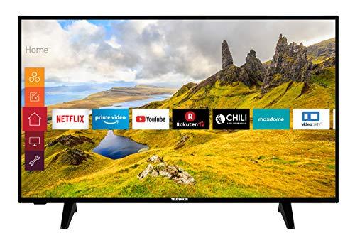 Telefunken XU43J521 108 cm / 43 Zoll Fernseher (Smart TV inkl. Prime Video / Netflix / YouTube, 4K UHD mit Dolby Vision HDR / HDR 10 + HLG, Works with Alexa, Triple-Tuner) [Modelljahr 2020]