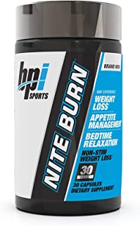 BPI Sports Nite burn – Fat Burner – Sleeping pill – Keto-Friendly – Weight Loss, Burn Fat, Relaxation, Boost Metabolism – ...