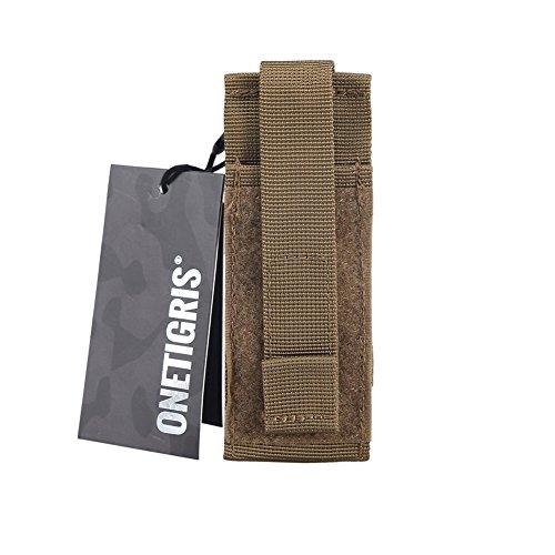 OneTigris Pochette/Etui De Ciseaux Médicaux EMT Outil Tactique avec Molle en Nylon (Tan - Version Améliorée)