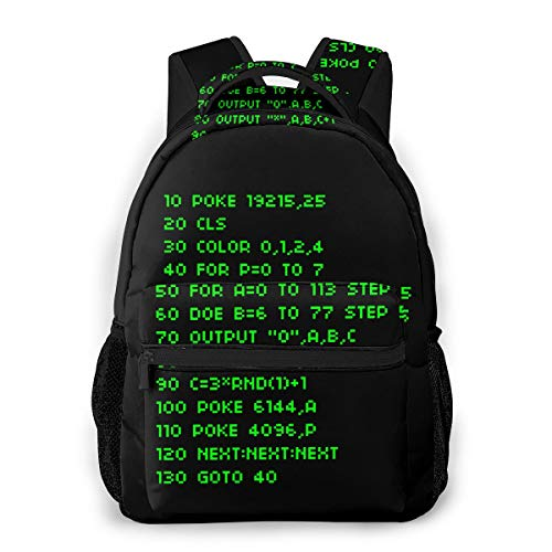 Basic Code Backpack Water Resistant Lightweight Cloth Casual Unisex