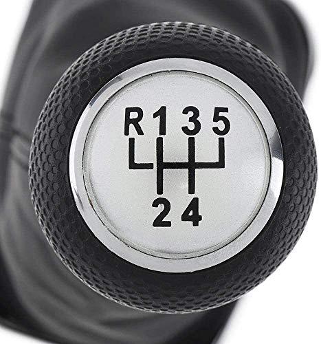 LAZNG Botón de Cambio de Engranaje Manual + Bota de gaitero + Cubierta de Polvo, Ajuste para Volkswagen Golf 4 IV MK4 / GTI / R32 Bora Jetta (Color : 5speed)