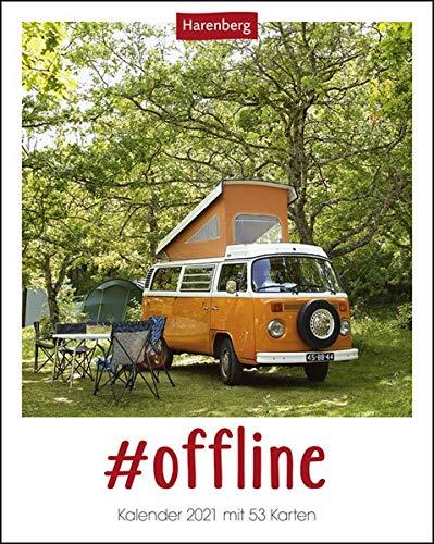 #offline Postkartenkalender 2021 - Tischkalender mit Wochenkalendarium - 53 perforierte Postkarten zum Heraustrennen - zum Aufstellen oder Aufhängen - Format 12 x 15 cm