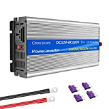 Inversor de Energía 2000 Watts (4000W Pico) 12V a 220V / 230V Inversor de Onda Sinusoidal Pura Convertidor de CC a CA con 1 Toma de CA y 1 Puerto USB