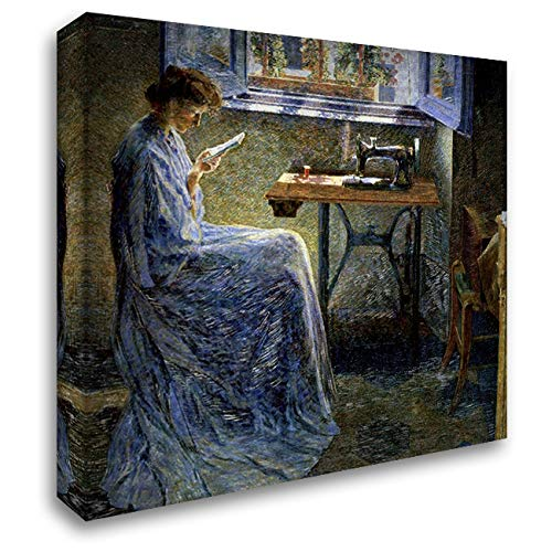 Boccioni, Umberto 22x20 Gallery Wrapped Stretched Canvas Art Titled: The Romance of One Seamstress