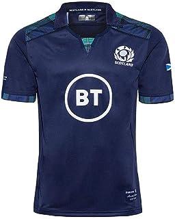 ラグビージャージ男子半袖2020スコットランドホームサッカージャージRugby JerseyラグビーTシャツメンズラグビー服トレーニングジャージ S-5XL (Size : L)