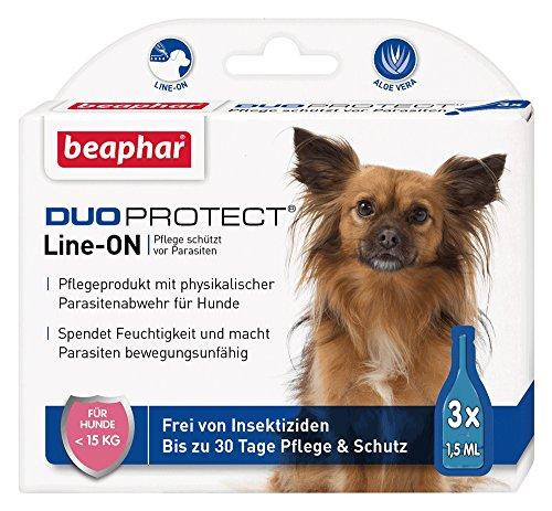 DuoProtect Hund (< 15 kg) | Pflege & Schutz für Hunde | Physikalische Parasitenabwehr | Mit Dimeticon & Aleo Vera | Wirkt bis zu 30 Tage | 3 x 1,5 ml