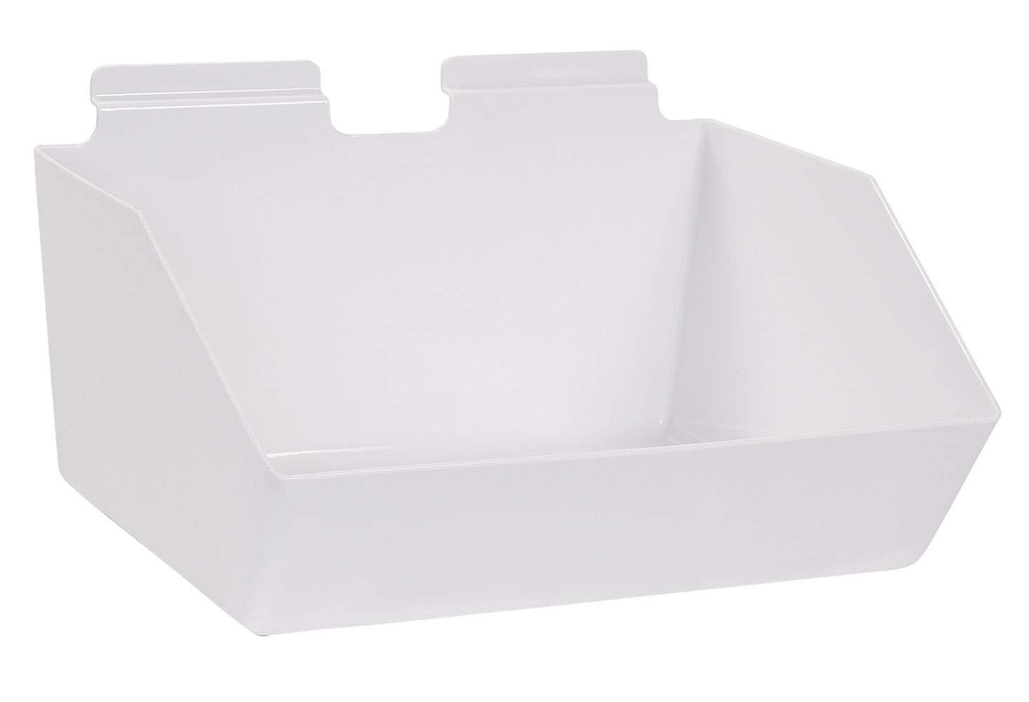 12 x 5 ½ 9 inch White - Dump Plastic New sales Bin Max 63% OFF Slatwall for