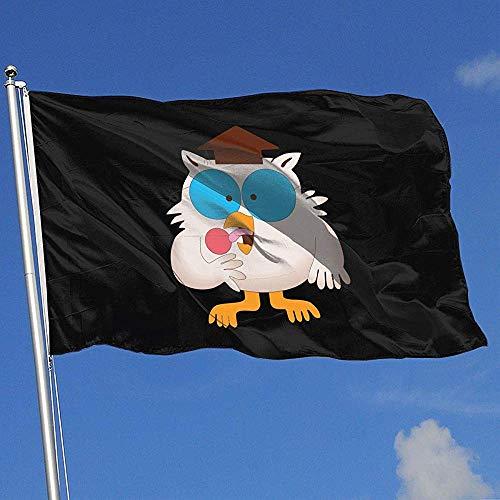 Not Applicable Flag Banners,Mr. Owl Tootsie Roll Polyester-Gartenflaggen Für Die Dekoration Von Feiertagen Zu Hause 180x120cm