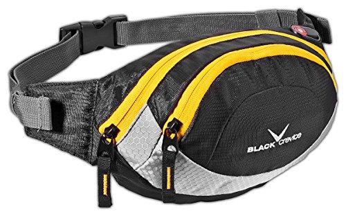 Black Crevice Sport Bauchtasche, Wandern, Trekking, Outdoor; BCR241003; schwarz