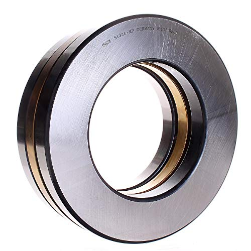 FAG 51324MP Grooved Race Thrust Bearing, Single Row, Open, 90° Contact Angle, Brass Cage, Metric, 120mm ID, 210mm OD, 70mm Width, 1200rpm Maximum Rotational Speed, 204000lbf Static Load Capacity, 72000lbf Dynamic Load Capacity