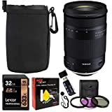 Tamron 18-400mm F/3.5-6.3 DI-II VC HLD All-in-One Zoom for Nikon APS-C Digital SLR Cameras, Sandisk 32GB, TruDigital Filter Kit, Protective Lens Pouch, Memory Card Reader and Accessory Bundle