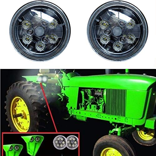 LED Tractor Lights Round Lantsun Flood Light CREE LED Work Light 12V for John Deere's tractor Offroad 4x4, 4WD etc(2Pcs) 6218