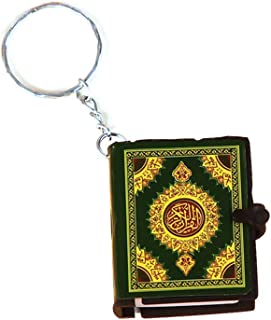 VAILANG Mini Ark Livre Coran V/éritable Papier Peut Lire Arabe Le Coran Porte-cl/és Bijoux Musulman
