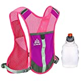 AONIJIE Premium Reflective Vest Give Sport Water Bottle as Gift for Running Cycling Clothes for Women Men Safety Gear with Pocket 3M Scotchlite with Reflective High Visibility (Pink)