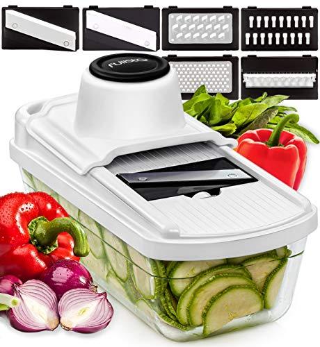 Mandoline Slicer Vegetable Slicer Mandoline  Potato Slicer Food Slicer Veggie Slicer Cutter Slicers for Fruits and Vegetables  Fruit Slicer Onion Slicer Julienne Slicer with Glass Container