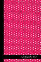 vintage polka dots: small lined Polka dot Notebook / Travel Journal to write in (6'' x 9'') 120 pages