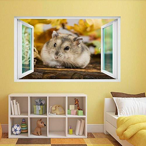 Pegatinas de paredPet Hamster Animal Wall Sticker Mural Decal Kids Room Decoración del hogar DE34