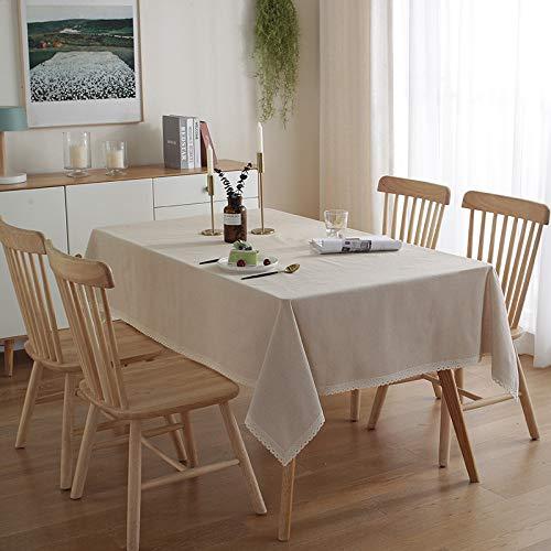 HEZESHOP Tischdecke kann gewaschen Werden Dekorative Tischdecke Tischdecke Rechteckige Tischdecke Tischdecke Kamin Arbeitsplatte 140X220CM