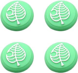 Switch Thumb Grip Caps Joystick Cap for Nintendo Switch & Lite Animal Crossing Tree Leaf Design (4 PCS Green)