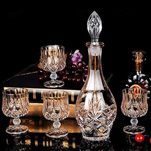 Vidrio Vaso De Vino Tinto Vaso De Cristal Whisky Copa De Brandy Y Jarra Botella De Vino Jarra Creativa Barwarer Hogar Set De Regalo, C