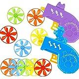 ZSWQ Cat Fetch Toy 12pcsCat Fetch Toy con hélices voladoras, Cat Tracks Toy Set Divertido Juguete de Ejercicio Interactivo de persecución(Color Random)