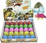Wenosda Dino Dinosaur Dragon Eggs Hatching Growing Toy Paquete de Gran tamaño de 30 Piezas (30pcs Color Crack)