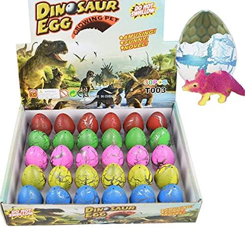 Dino Dinosaur Dragon Eggs, 30 Pezzi Giocattolo a Forma di Dinosauro per Bambini Che crescono a Forma di Drago, Crepa di Colore