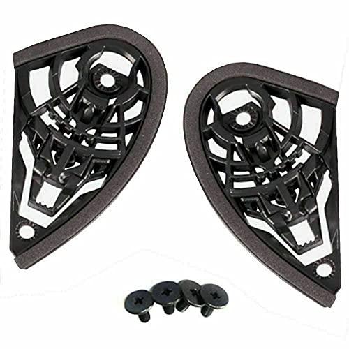 Mecanismo de visera para casco – Compatible con Agv K3 K4 Evo completo – Juego de placas (par) – Negro