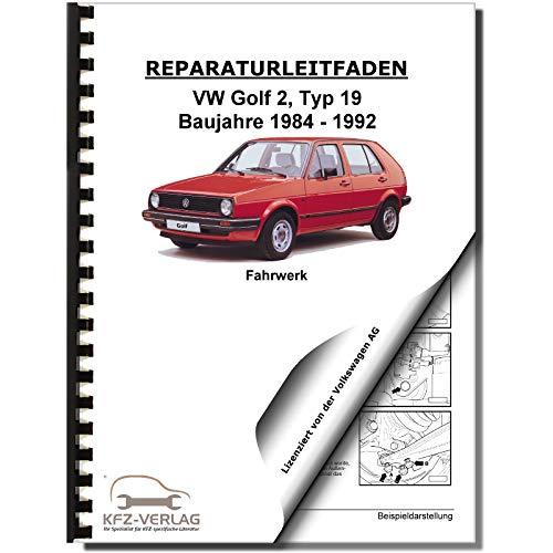 VW Golf 2 Typ 19 1983-1992 Fahrwerk Achsen Lenkung Bremsen Reparaturanleitung