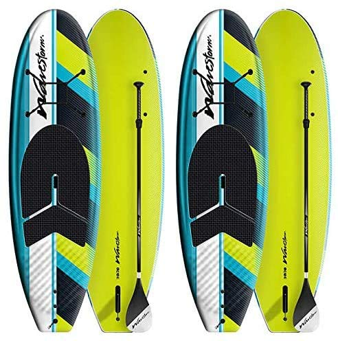 wavestorm sup board paddling on water