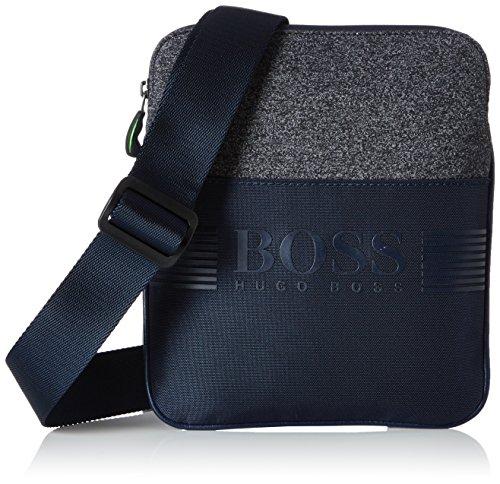 BOSS Pixel Ms Zip Env 10 10197422 Mens Wallet Blau Navy 20 x 24 1 cm wxhxd
