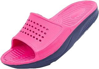 Remanlly Couple Women's Four Seasons Household Slippers Outdoor Or Bathroom Slippers Slip-On Fashion Flat Non-Slip Slide Sandal Soft Shoes Women and Men