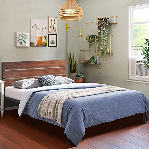 Twin Bed Frame with Headboard, Metal Platform Bed Frame with Footboard, Bed Frame Twin Size, No Box Spring Needed, Twin Platform Bed Frame, Sturdy Steel Structure (Twin)