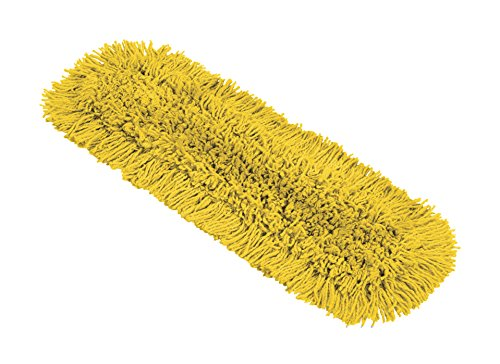 Rubbermaid Commercial Products - 2018810 Maximizer Dust Mop Pad and EZ Access Scraper, 24in, Replacement Pad Yellow