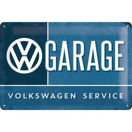 Nostalgic-Art Retro Tin Sign, Volkswagen – VW Garage – Car Gift idea, Metal Plaque, Vintage Design for Wall Decoration, 7.9
