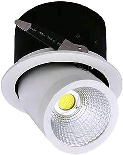 Europalamp DL2440 Spot LED Encastrable Plafonnier Plafond Ultra Slim Neutre 18 W 22 x 2 cm Aluminium Blanc