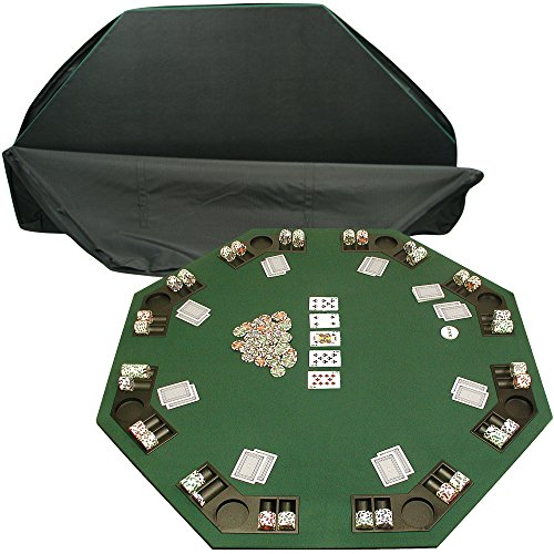 Trademark 10-8221 Deluxe Poker and Blackjack Table Top with Case