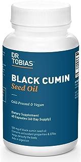 Dr. Tobias Black Cumin Seed Oil Supplement, Cold-Pressed and Vegan, 60 Capsules