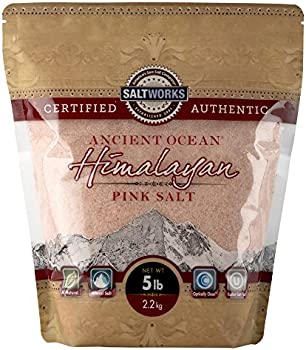 SaltWorks Ancient Ocean Himalayan Pink Salt Fine Grain Bulk Bag 5 Pound