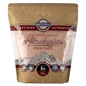 SaltWorks Ancient Ocean Himalayan Pink Salt Fine Grain 5 Pound Bag