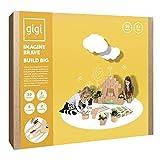Gigi Bloks Bloques de Construcción Gigantes de Cartón   Set de Regalo Puzzle de Casa y Gato con 30 Ladrillos Apilables XL, Plantillas, Pinturas y Pegatinas   Juegos de Habilidad para Niños