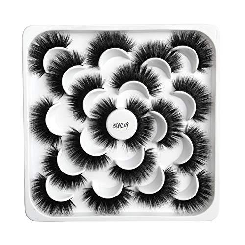 5j Mode Cils Cils Fluffy Lotus Plate Conception Réutilisables Main De Mode Faux Cils Outils De Maquillage Pour Les Femmes Filles 10pair 5daz09 Type