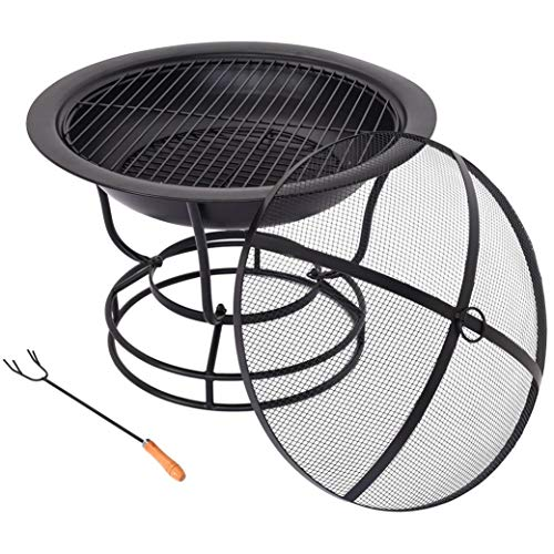 Adpan Outdoor Fire Pit Wood Burning 30 Bowl Copper Decorative Patio Backyard Round