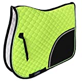 Professional Equine Horse Cotton Quilted English Saddle PAD Tack Trail Riding Lime Green 72F09