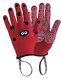 Rostaing ANABEL-IT3-4 Gant Enfant Coccinelle. Leash Poignet Paume Anti-dérapante, Rouge, 20 x 11 x 1,5 cm