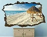 Pegatinas de pared - 3D - Playa Cancún Naturaleza Tatuajes De Pared Pegatinas De Pared Arte- Poster Decoración Hogareña 50x70cm