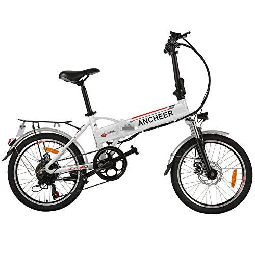 ANCHEER 20 Zoll E-Bike Pedelec, Faltbares Elektrofahrrad Elektrisches Fahrrad mit 36V 8AH Lithium Akku, Shimano 7 Gang Getriebe, 250 W Motor
