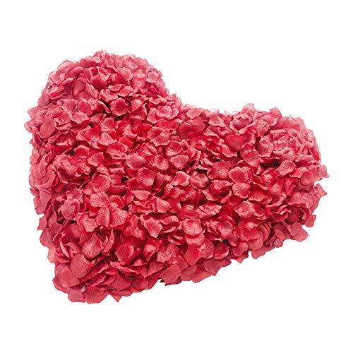 1000pcs pétalos de rosa artificiales de seda,pétalos de Rosa de Seda Artificial artificiales Pétalos de rosa Pétalos de rosa artificiales para bodas Compromisos Decoración de mesa Decoración de fiesta