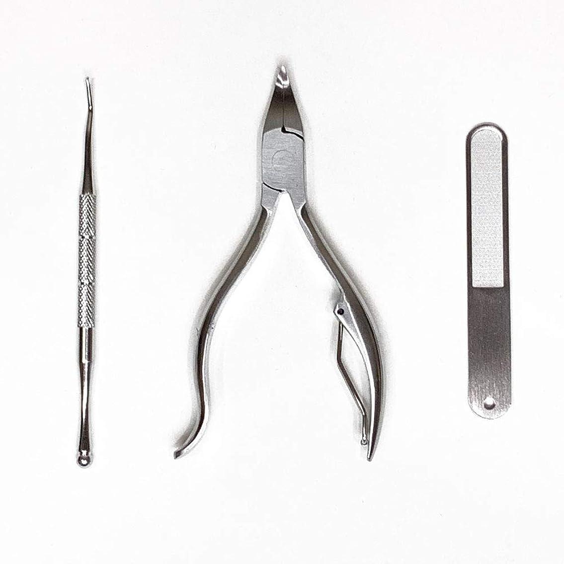 住む大声で未使用Larmmercy 爪切り ニッパー やすり ゾンデ 三点セット 巻き爪 硬い爪 変形爪にも