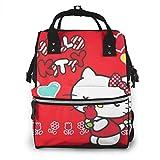 Bolsa de pañales Hello Kitty con Rose Mommy Baby Bag, multifunción de gran capacidad de viaje mochila de pañales